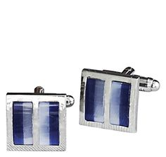 DIVIDED BLUE STONE SQUARE CUFFLINKS - Blue from Johnston & Murphy