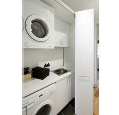 """Obtain excellent suggestions on """"laundry room stackable washer and dryer"""". They are actually readily available for you on our web site. Laundry Bathroom Combo, Laundry Cupboard, Garage Laundry, Laundry Cabinets, Laundry Room Doors, Laundry Room Organization, Hall Cupboard, Laundry Storage, Cupboards"""