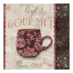 Paris Patisserie-Cafe Gourmet Poster