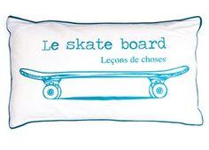 Obercooles 'Le skate board' Kissen Leçons de Choses   Kindershop Das Kleine Zebra