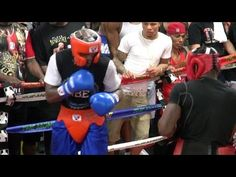 Floyd Mayweather got in some sparring against Don Moore at the media day for his upcoming fight with Andre Berto on Sept. 12 For more exclusive videos from P. Don Moore, Boxing Videos, Floyd Mayweather, Day