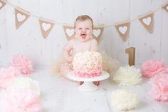 Beautiful 1st Brthday Vintage girls Cake Smash and Splash