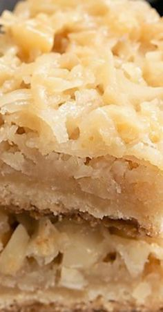 I've been baking up these decadent Coconut Macadamia Nut Bars for years as part of the holiday cookie trays I distribute to friends and neighbors. Macadamia Nut Recipes, Macadamia Nut Cookies, Baking Recipes, Dessert Recipes, Tropical Desserts, Nut Bar, Cookie Tray, Stick Of Butter, Holiday Cookies
