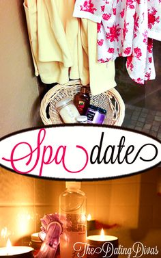A romantic, relaxing at-home date for two.  Yes please!  www.TheDatingDivas.com #datenight #spanight #datingdivas