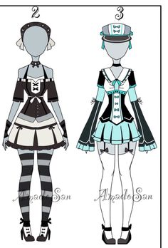 Outfit Batch adoptable closed by AS-Adoptables.deviantart.com on @DeviantArt