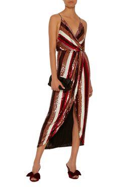 M'O Exclusive: La Condesa Mules by Johanna Ortiz Sequin Gown, Beach Dresses, Ladies Dress Design, Going Out, Cool Designs, Wrap Dress, Fashion Dresses, Sequins, Huckleberry