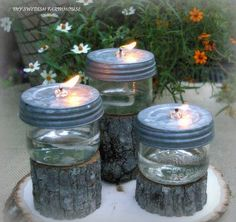 DIY Mason Jar Citronella Oil Candles