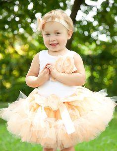 Peach Sugar Tutu Dress by StrawberrieRose on Etsy, $89.95