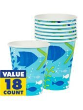 Cool Sea Cups 18ct - Party City