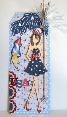 6/20/2013; Betty at 'Sweet Irene's Inspirations' blog; Independence Day Prima Doll