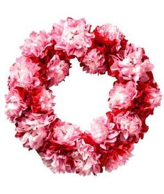 Paper Flower Wreath | Get the kids involved spreading holiday cheer, no matter how much you love (or love to hate) February 14.