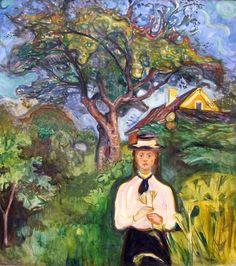 Girl under Apple Tree-Edvard Munch
