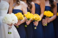 Navy and Yellow | Laguna Niguel Wedding by Jasmine Star + Joyful Weddings & Events