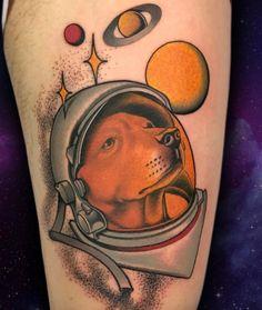 Lovely Dog Astronaut Tattoo