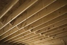 """How to """"finish"""" basement ceilings on the cheap."""