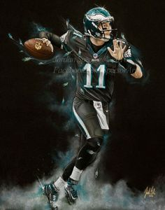 2d7e38b89 Philadelphia Eagles Carson Wentz Art Print. My Man Carson Wentz!! Who s  ready to