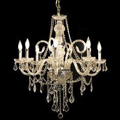 "Victorian Design 8-Light 32"" Gold or Chrome Chandelier with European or Swarovski Crystal SKU# 11132 400$"