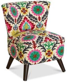 Grandview Desert Flower Accent Chair, Quick Ship - Desert Flower