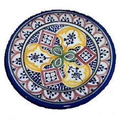 Moroccan Handmade 9-inch Rainbow Small Plate
