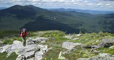 Summit nine peaks and graze on trailside blueberries on this 39-mile, 3- to 4-day backpacking loop through Maine.