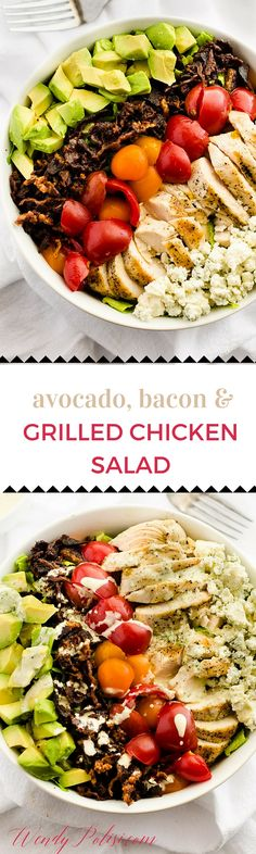 Avocado, Bacon and Grilled Chicken Salad & Kitchen Dreaming - This grilled chicken salad makes the perfect weekend lunch or weeknight meal. Plus --> come learn about what I'm craving in my kitchen. - need to try this one dairy-free! Avocado Recipes, Healthy Salad Recipes, Lunch Recipes, Free Recipes, Bacon Avocado, Avocado Salad, Healthy Dinners, Grilled Chicken Salad, Chicken Salad Recipes