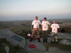The team on top of Rough Tor Bodmin Moor