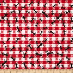 Comfy Flannel Ants Red from @fabricdotcom  This double napped (brushed on both sides) flannel is perfect for quilting and apparel. Colors include red, white and black.