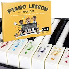 Piano key labels for beginners – Allegro Keys Piano Lessons, Music Lessons, Piano Keys Labeled, Keyboard Stickers, Piano Music, Guide Book, Unique Colors, Book Design, How To Memorize Things