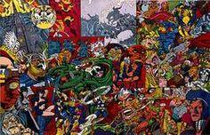 """© Erró,""""Thor's Story"""" (L'histoire de Thor), 1999, peinture glycérophtalique sur toile, Erró"""
