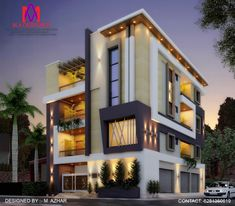 House Architecture Styles, Modern Architecture, Modern Bungalow Exterior, 2bhk House Plan, Walnut Creek, Building Exterior, House Elevation, Big Houses, Modern House Design
