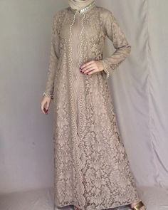Gawn Dress, Dress Brukat, Hijab Dress Party, Hijab Style Dress, Dress Outfits, Kebaya Modern Dress, Kebaya Dress, Dress Pesta, Muslim Fashion