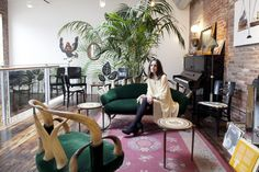 May 2013 Issue - Vintage furniture and a piano in a living space