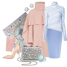 Winter Pastels by melange-art on Polyvore featuring polyvore, мода, style, Peter Pilotto, Thakoon, River Island, Christian Louboutin, Santi, David Yurman, Hermès and Roberto Coin