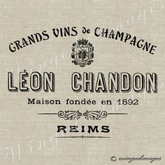 Vintage French Wine Ad Instant Download Digital Image No.138 Iron-On Transfer to Fabric (burlap, linen) Paper Prints (cards, tags)