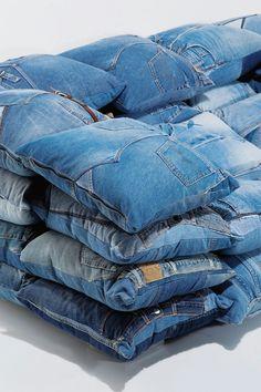 DIY jeans cushions