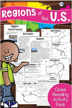 Looking for an easy way to use close reading strategies across the content areas and make time for Social Studies? This complete close reading, vocabulary, and maps activities packet is the perfect way to give your students a complex text and fun activities for an important topic like the Regions of the United States! Includes graphic organizers and a unit test! #closereading #socialstudies #regionsoftheus #usregions #TeachingintheHeartofFlorida Close Reading Strategies, Close Reading Activities, Teaching Strategies, Teaching Resources, Teaching Ideas, Social Studies Classroom, Social Studies Activities, Teaching Social Studies, Teaching History