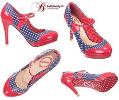Chaussures Escarpins Pin-Up Rockabilly 50s Mary Jane Pois Polka  http://www.belldandy.fr/chaussures-escarpins-pin-up-rockabilly-50-s-mary-jane-pois-polka-43887.html https://www.facebook.com/belldandy.fr/photos/a.338099729399.185032.327001919399/10154168451529400/?type=3                                                                                                                                                                                 Plus