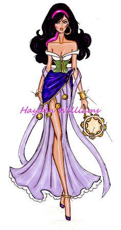 The Disney Divas collection by Hayden Williams: Esmeralda by Fashion_Luva, via Flickr