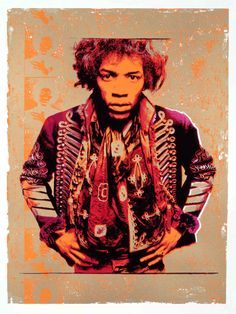 Purple & Gold (Jimi Hendrix) | Silkscreen Print | 40 x 30 inches (paper) | £1,150 | Edition of 500, but now less than 30 are available. Print is on Somerset Satin, 100% cotton, acid free paper and signed in pencil by the photographer.