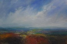 Kristan Baggaley. Settled Weather, Burbage Moor. Mixed Media on canvas