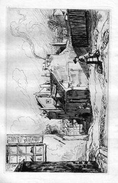 Rue du Mont-Cenis - Paris - A l'angle de la rue Cortot (1910)
