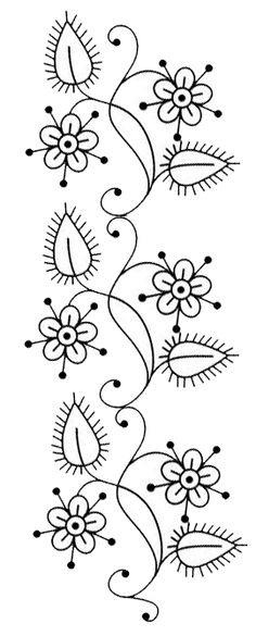 Flowers and leafs scroll