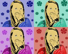 This picture was done in Andy Warhol style. I chose a different color background for every photo, and added flowers to all of it. I had to use the lasso tool to cut myself out of the other folder and onto the other one.