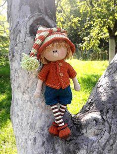 Crochet pattern toy Amigurumi crochet doll boy Elf pattern PDF