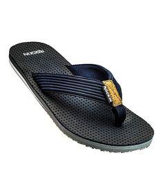 45f05aaa7 Rockin Footwear Navy Ryan Flip-Flop - Men
