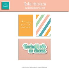 """Free journaling cards: pastel stripes, Amor omnia vincit and """"Love and do what you will"""" in Polish. Enjoy!  Mazu"""
