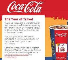 Coca Cola The Year of Travel Sweepstakes - Sweeps Maniac