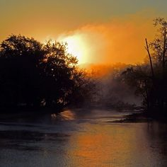 Today's sunrise over the Rock River in Rockton IL - @frankyboy1- #webstagram