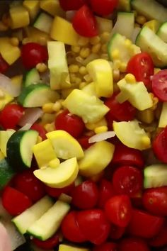 This Calabacitas Recipe has zucchini, squash, onions and tomatoes cooked up with sweet corn and green chilies then topped with crumbled, salty queso fresco! Yellow Zucchini Recipes, Mexican Zucchini, Summer Squash Recipes, Summer Recipes, Recipe Zucchini, Sauteed Zucchini Recipes, Sauteed Zucchini And Squash, Zucchini Cheese, Corn Cheese