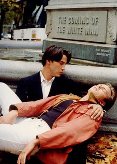 Keanu Reeves and River Phoenix in My Own Private Idaho